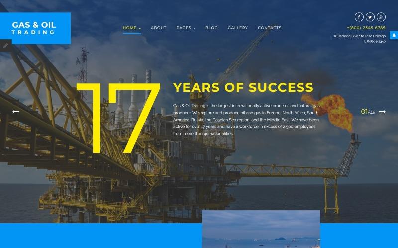 Шаблон Joomla для торгівлі газом і нафтою