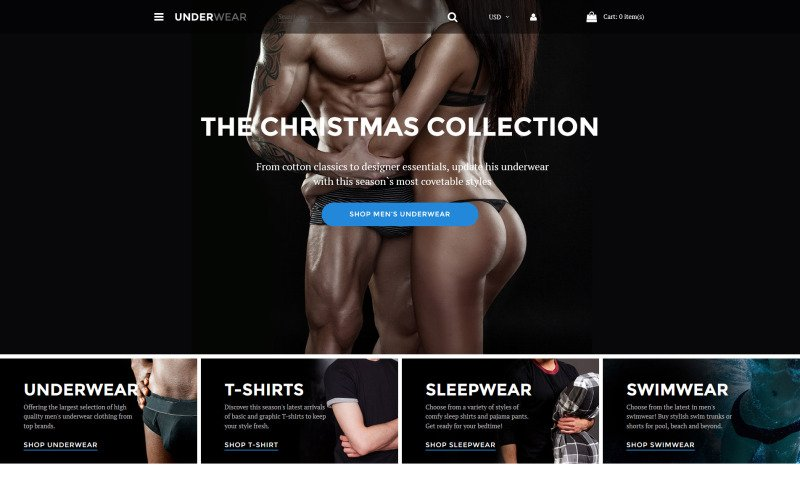 Underwear for Men Shopify Theme