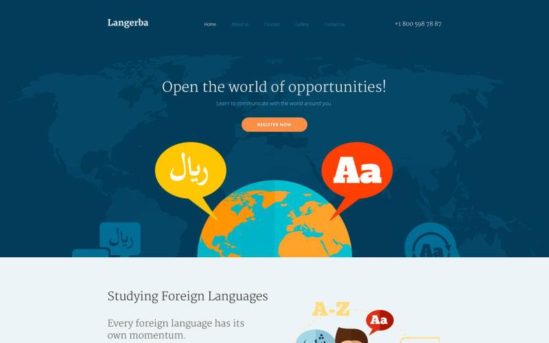 Langerba Website Template