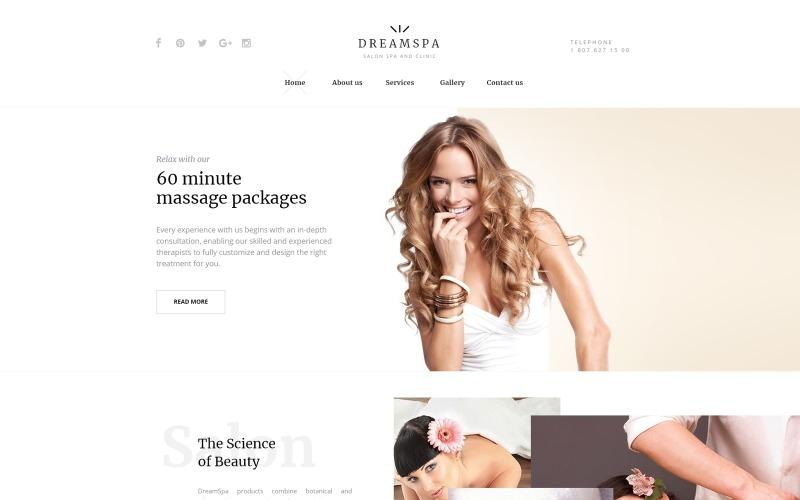 Plantilla web para sitio web Dream Spa