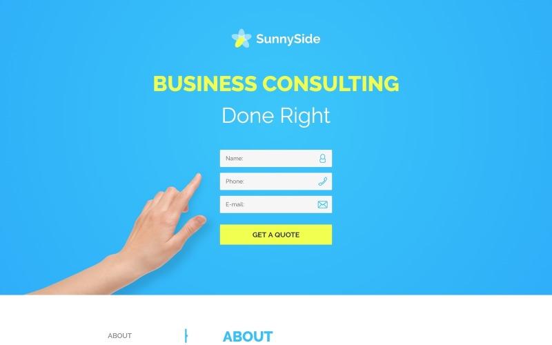 SunnySide - Design Studio Minimal HTML Landing Page Template