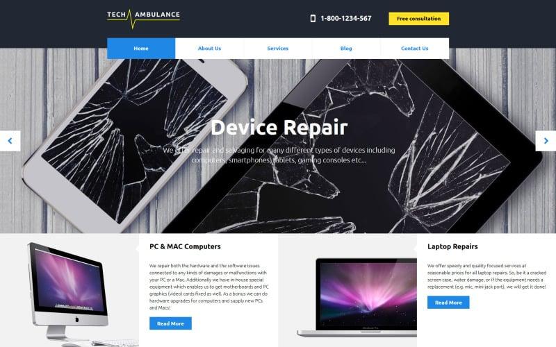 Tech Ambulance Responsive Website Template