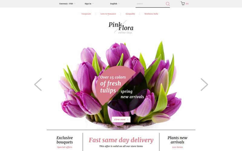 Thème Pink Flora PrestaShop