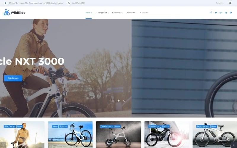 WildRide - тема WordPress для спортивных велосипедов