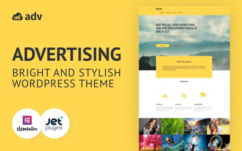 Adv - Bright And Stylish WordPress Advertising Theme