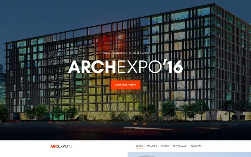 Arch Expo Website Template