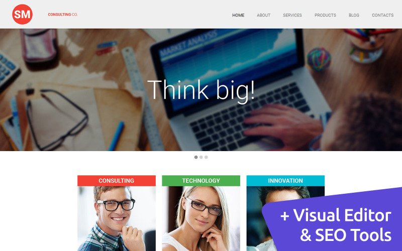 Consulting Services Moto CMS 3 Template