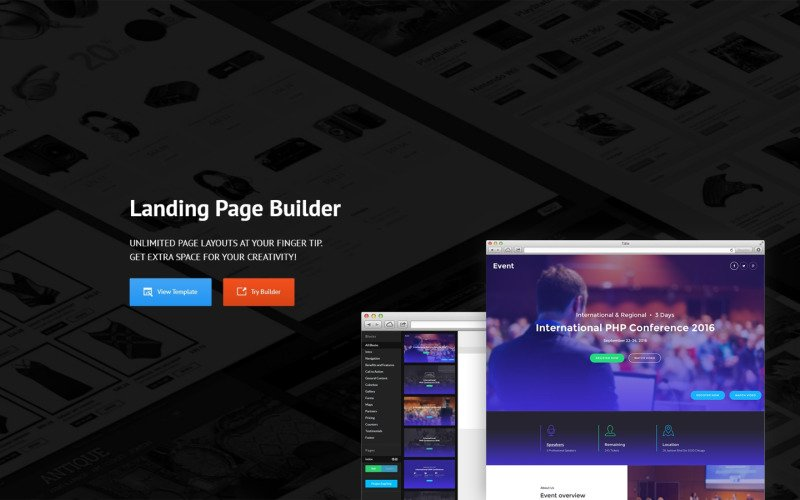 Event Planner Responsive Landing Page Template 58491