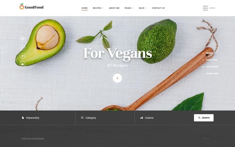 GoodFood - Modèle de site Web HTML5 multipage pour restaurant Clean