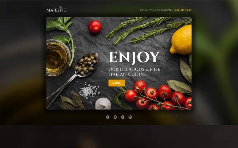 Italian Restaurant Responsive Landing Page Template