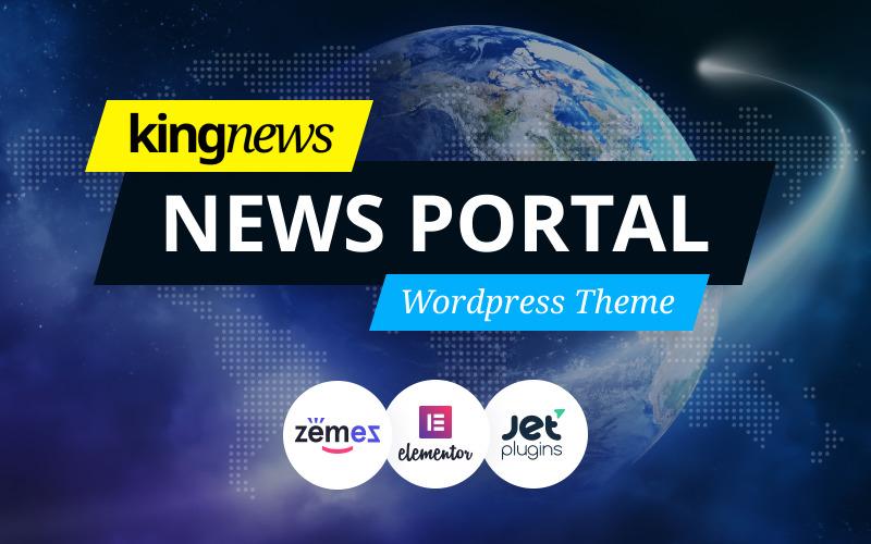 KingNews - Motyw WordPress Portal informacyjny i czasopisma