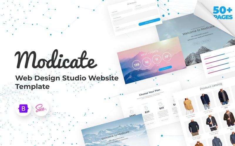 Modicate - Modèle de site Web Web Design Studio