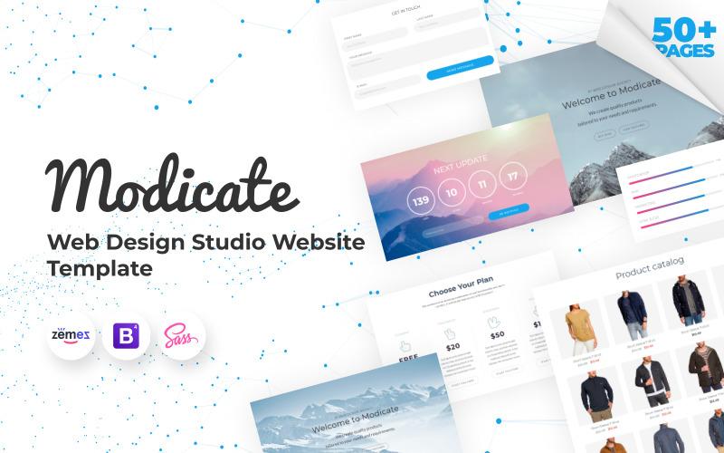 Modicate - шаблон сайта студии веб-дизайна