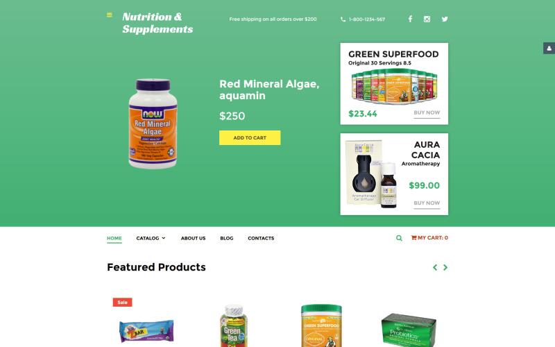 Пищевые добавки VirtueMart Template