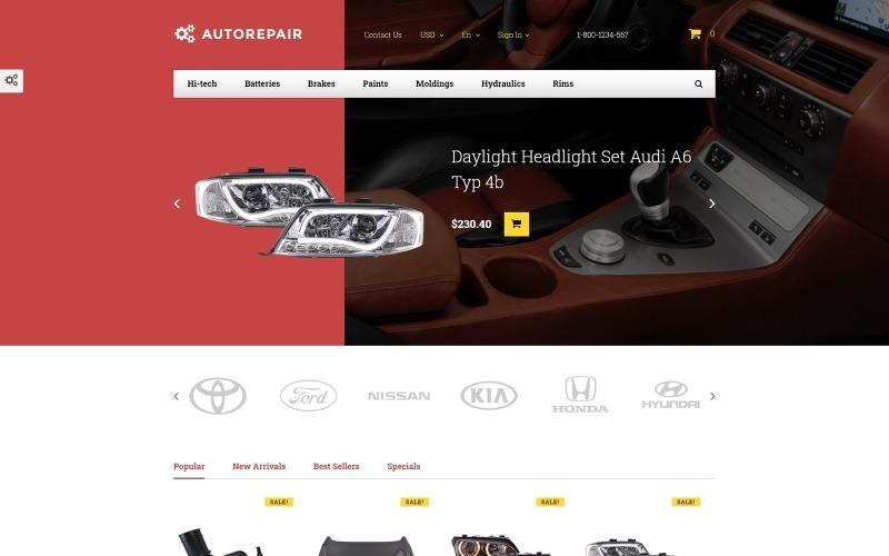 Autorepair - PrestaShop motiv Autodíly