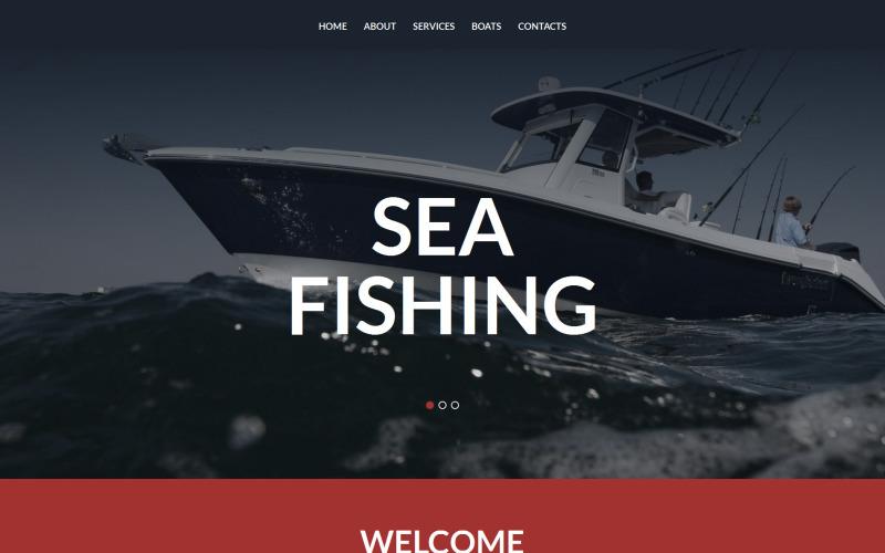 Rybářská šablona Moto CMS 3