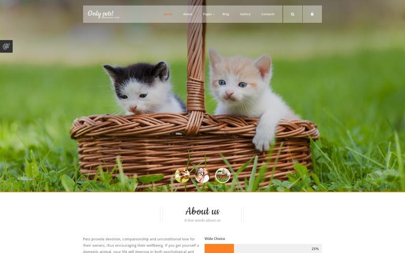 Шаблон Joomla Животные Домашние животные
