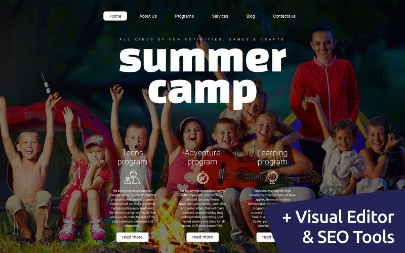 Summer Camp Moto CMS 3 Template