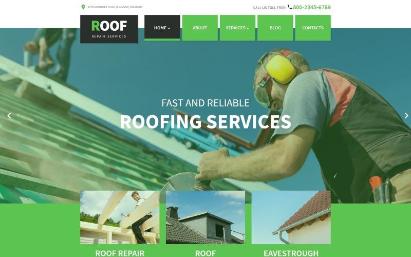 Тема WordPress для ремонта крыши