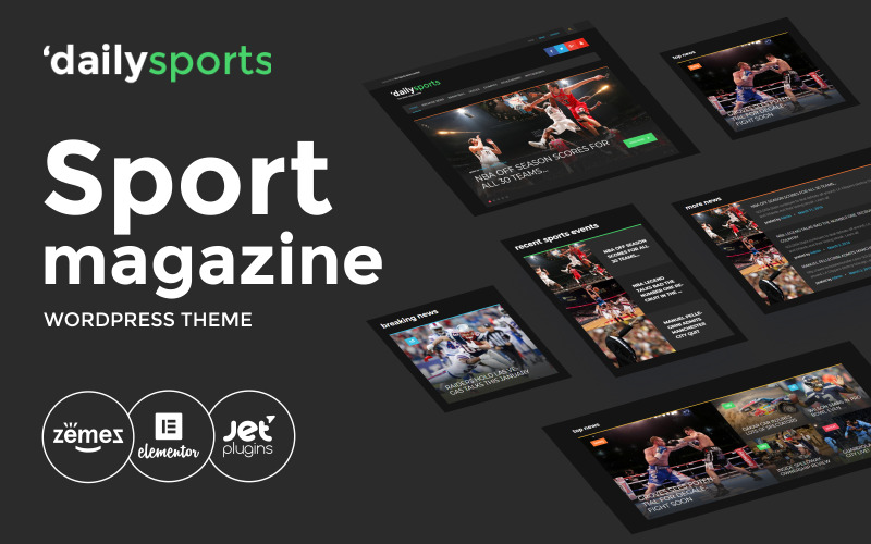 WordPress téma DailySports - Sport Magazine