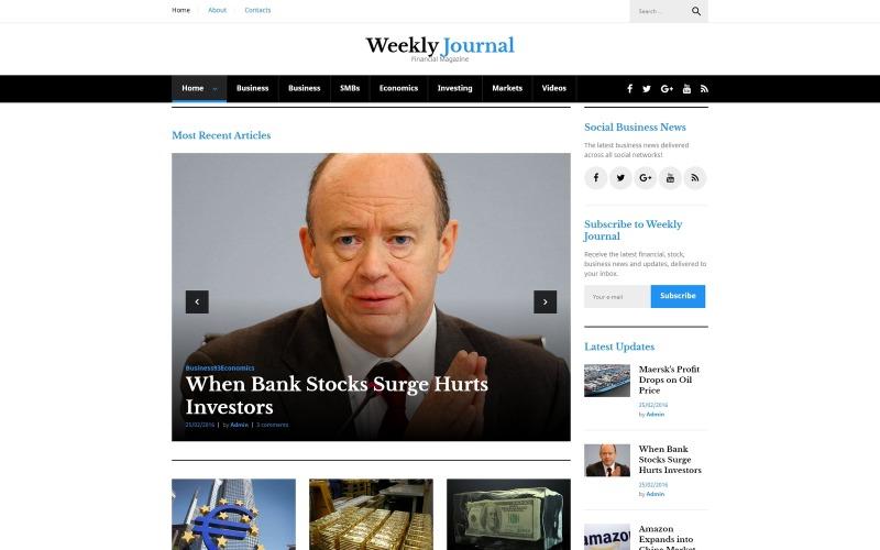 WordPress тема финансовых новостей и журналов