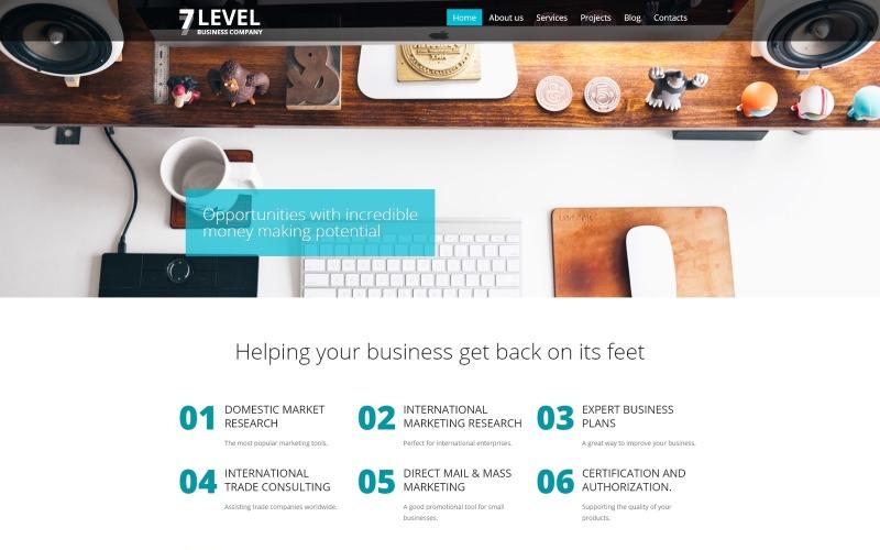 WordPress-tema med 7 nivåer