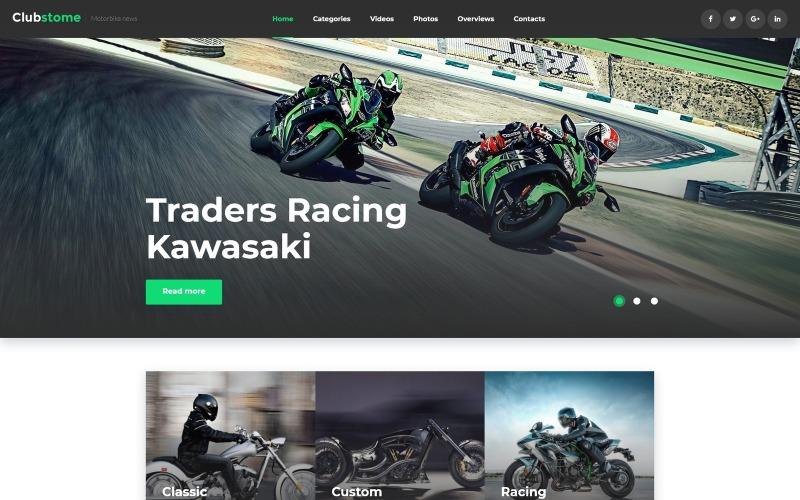 Clubstome - WordPress тема спортивных гонок