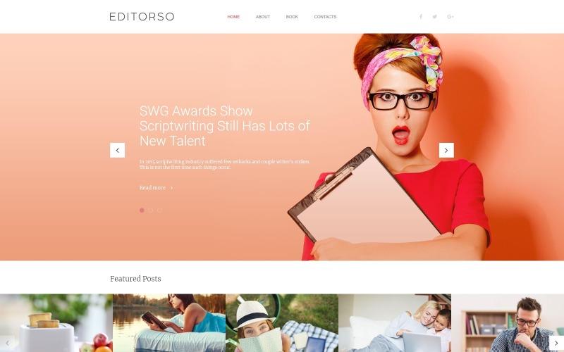 Editorso - Újságírói blog WordPress téma