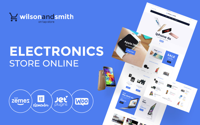 Elektronika - Haladó elektronikai áruház online WooCommerce téma