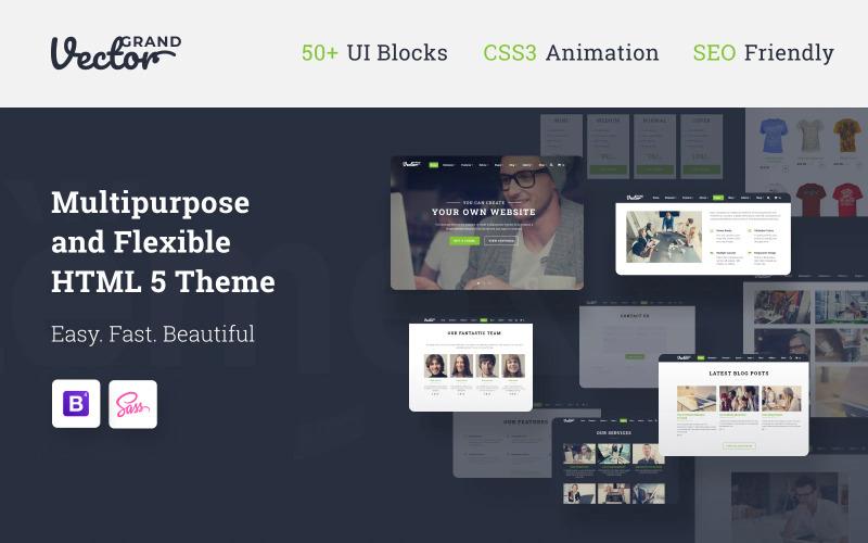 Grand Vector - Modello di sito Web HTML5 di Web Design Studio