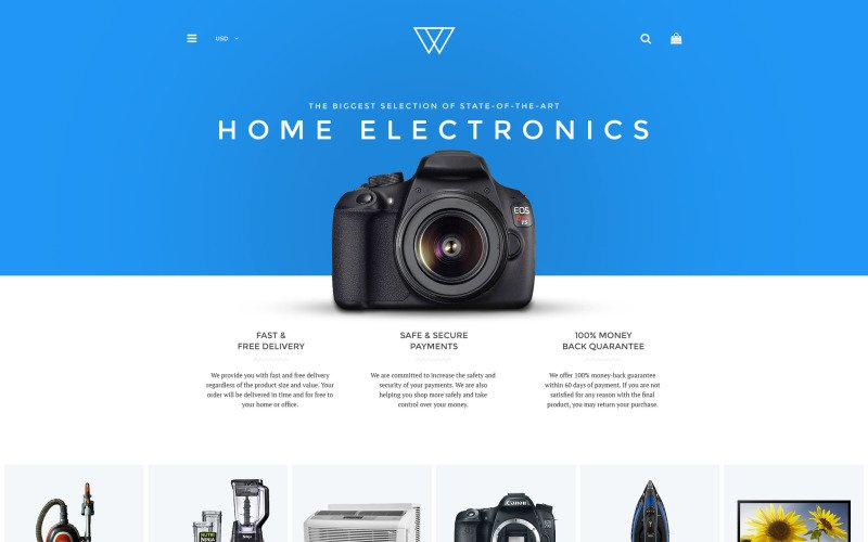 Home Electronics Shopify Theme