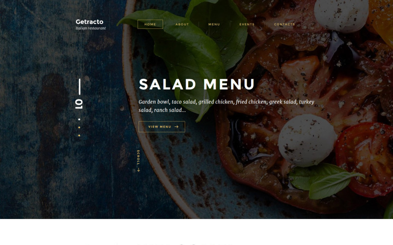 Italian Restaurant Responsive Website Template