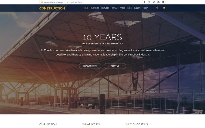 Modello di sito Web multiuso di costruzione