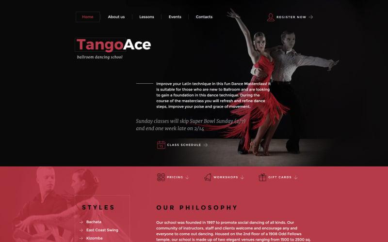 TangoAce - Dance Studio Website Template