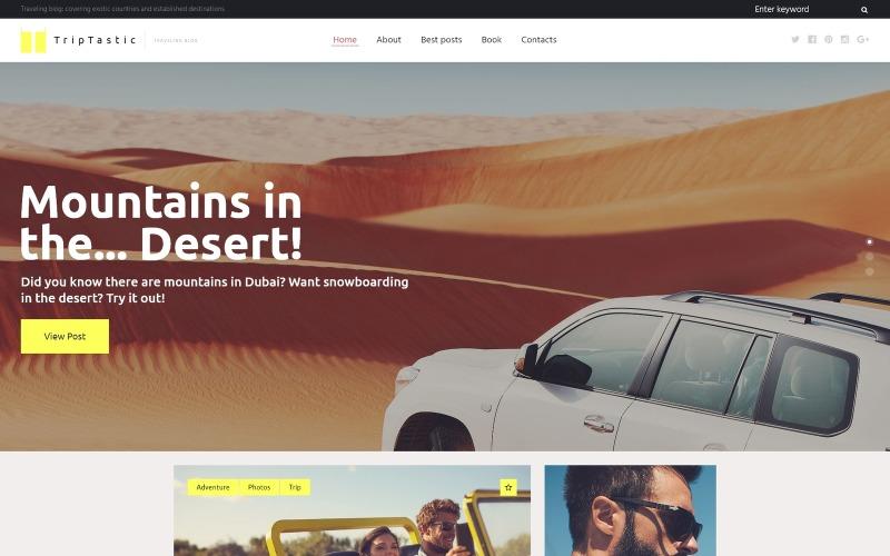 TripTastic - Тема WordPress для щоденників подорожей