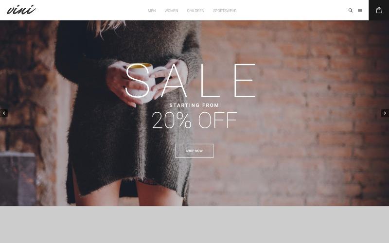 Vini - Modebutik Magento-tema
