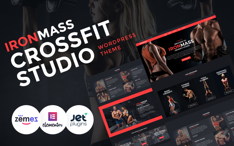 WordPress šablona IronMass - Gym Fitness & Bodybuilding