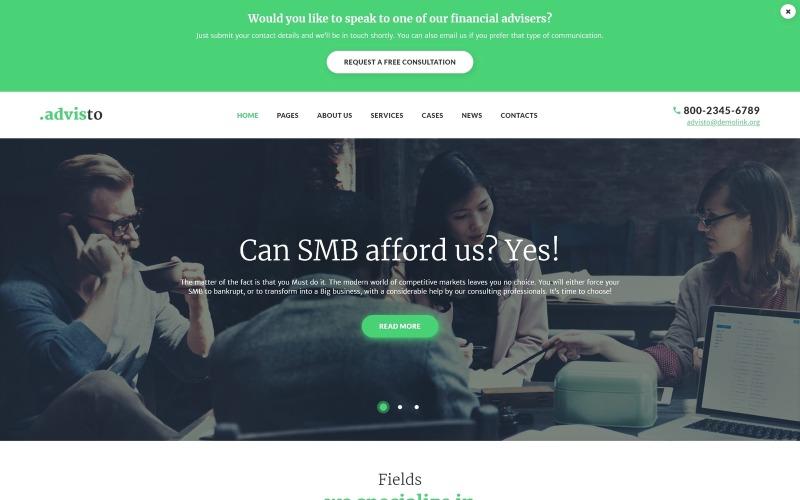 Advisto - Finanzberater Beratung WordPress Theme