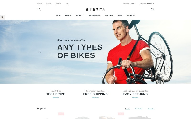 Bikerita PrestaShop-Thema