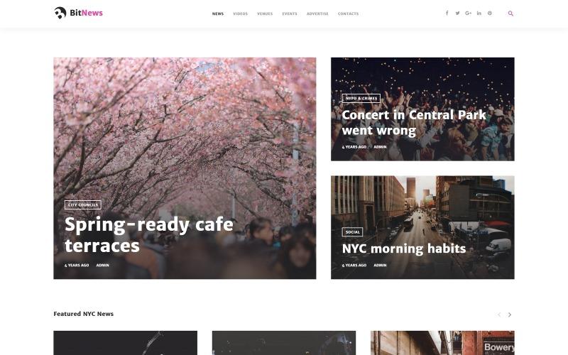 BitNews - тема WordPress для журналов и новостных порталов