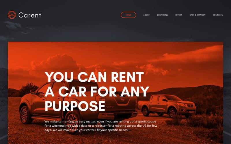 Carent - Car Rental Responsive Website Template