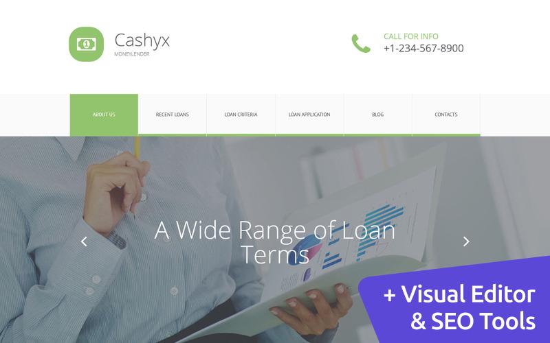 Cashyx - Business Loan Moto CMS 3 Template