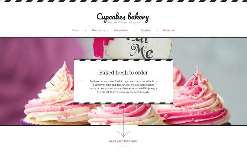 Cupcakes Bakery Website Template