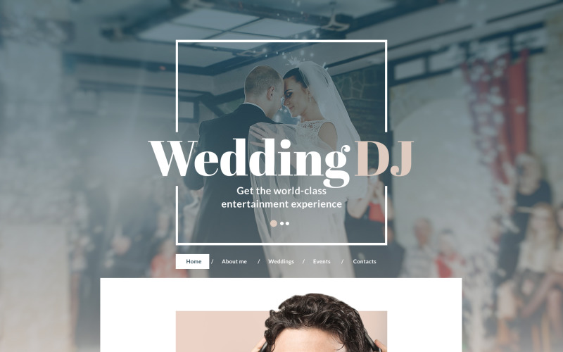 DJ Responsive Website Template