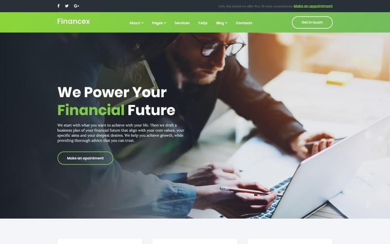 Financex - Thème WordPress pour conseiller financier
