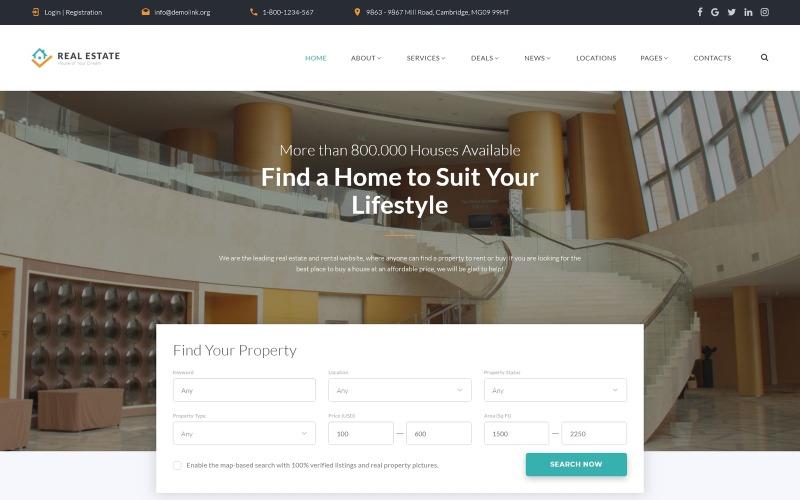 Ingatlan - Hatékony lakhatási és elhelyezési többoldalas HTML webhelysablon