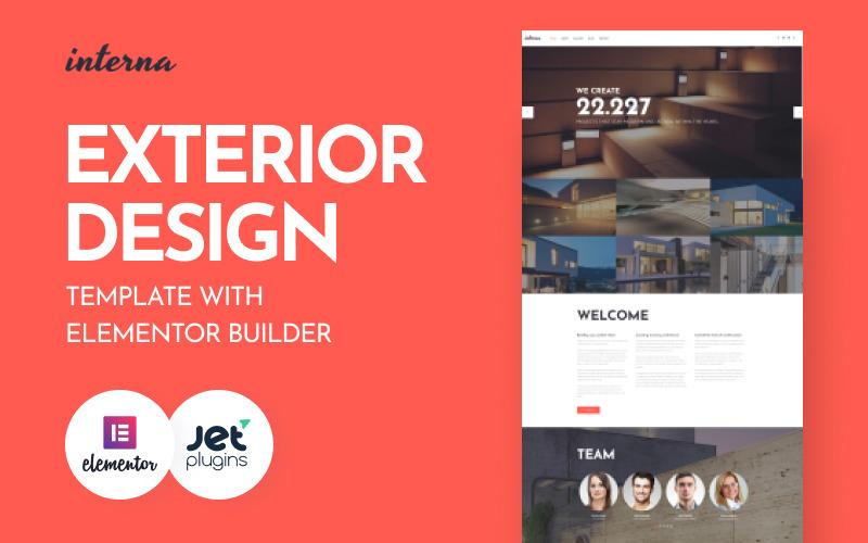 Interna - Exterior Design Template with Elementor Builder WordPress Theme