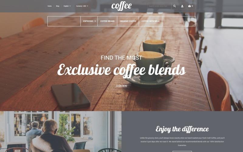Kávézó Magento téma