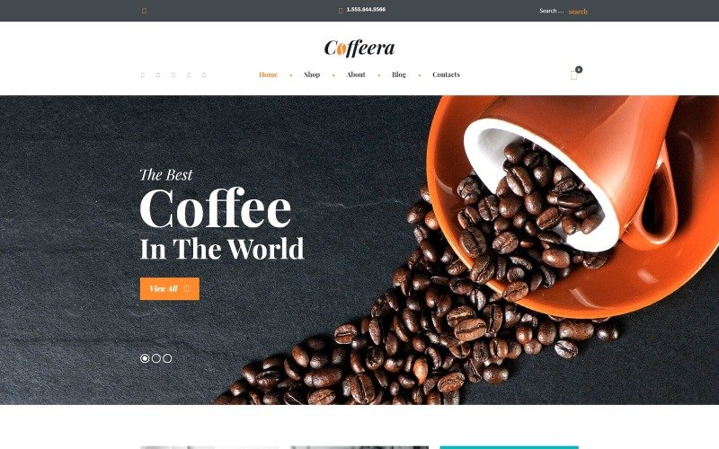 Motyw Coffee Shop WooCommerce