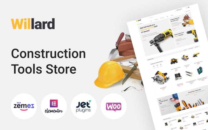 Willard - Loja de ferramentas de construção Multipurpose ECommerce Clean Elementor WooCommerce Theme